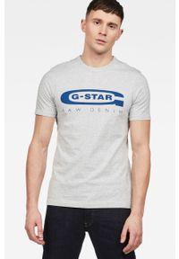 G-Star RAW - G-Star Raw - T-shirt. Kolor: szary. Materiał: dzianina. Wzór: nadruk