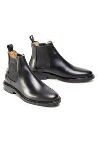 Czarne buty zimowe GANT na co dzień, casualowe, z cholewką