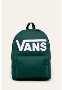 Zielony plecak Vans z nadrukiem