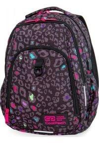 Patio Plecak szkolny Coolpack Cp Czarna Pantera Strike fioletowy. Kolor: wielokolorowy, czarny, fioletowy. Wzór: motyw zwierzęcy