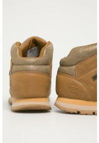 Złote buty sportowe Big-Star z cholewką, z okrągłym noskiem, na sznurówki