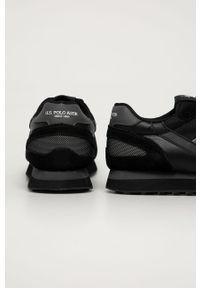 Czarne sneakersy U.S. Polo Assn z okrągłym noskiem, na sznurówki