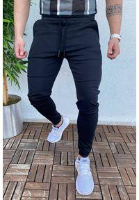 Czarne jeansy IVET sportowe, na co dzień