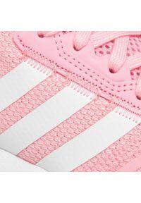 Adidas - Buty adidas - Swift Run X J FY2148 Ltpink/Ftwwht/Cblack. Okazja: na uczelnię. Zapięcie: sznurówki. Kolor: różowy. Materiał: materiał. Szerokość cholewki: normalna. Styl: młodzieżowy