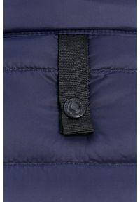 United Colors of Benetton - Bezrękawnik puchowy. Okazja: na co dzień. Kolor: niebieski. Materiał: puch. Długość rękawa: bez rękawów. Styl: casual