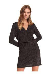 Czarna sukienka TOP SECRET kopertowa