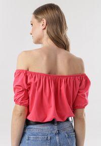 Born2be - Ciemnoróżowa Bluzka Corilirea. Kolor: różowy. Materiał: dzianina. Długość rękawa: krótki rękaw. Długość: krótkie. Wzór: gładki. Sezon: lato