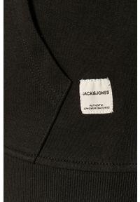 Czarna bluza rozpinana Jack & Jones casualowa, na co dzień, z kapturem