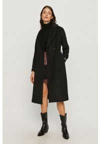 Czarny płaszcz Armani Exchange bez kaptura #6