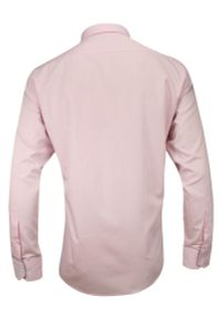 Różowa elegancka koszula Rey Jay długa, z długim rękawem