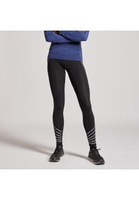 KIPRUN - Legginsy Do Biegania Damskie Kiprun Warm. Kolor: czarny, różowy, wielokolorowy, pomarańczowy. Materiał: elastan, poliester, materiał, poliamid. Sezon: zima. Sport: fitness, bieganie