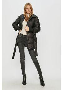 Czarna kurtka Trussardi Jeans klasyczna, bez kaptura