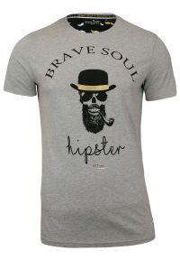 T-shirt Brave Soul z nadrukiem, casualowy, na co dzień