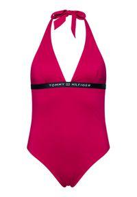 TOMMY HILFIGER - Tommy Hilfiger Strój kąpielowy Halter UW0UW02711 Różowy. Kolor: różowy