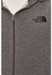 Szara bluza rozpinana The North Face na co dzień, casualowa, z kapturem
