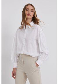 Lauren Ralph Lauren - Koszula bawełniana. Kolor: biały. Materiał: bawełna. Długość rękawa: długi rękaw. Długość: długie. Wzór: gładki