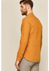 Żółta koszula medicine długa, ze stójką, casualowa