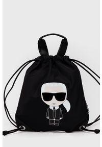 Karl Lagerfeld - Plecak. Kolor: czarny. Materiał: poliamid