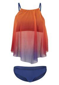 Pomarańczowy strój kąpielowy bonprix z wyjmowanymi miseczkami