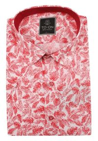 Elegancka koszula TO-ON z krótkim rękawem, krótka