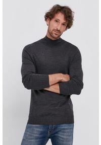 Drykorn - Sweter. Okazja: na co dzień. Kolor: szary. Długość rękawa: długi rękaw. Długość: długie. Styl: casual