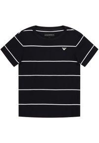 Emporio Armani T-Shirt 3H4T69 1JEQZ F908 Granatowy Regular Fit. Kolor: niebieski