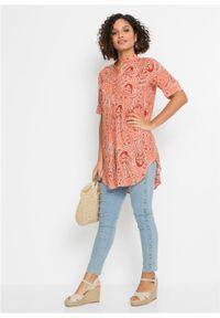 Długa bluzka koszulowa bonprix czerwony paisley. Kolor: czerwony. Długość: długie. Wzór: paisley