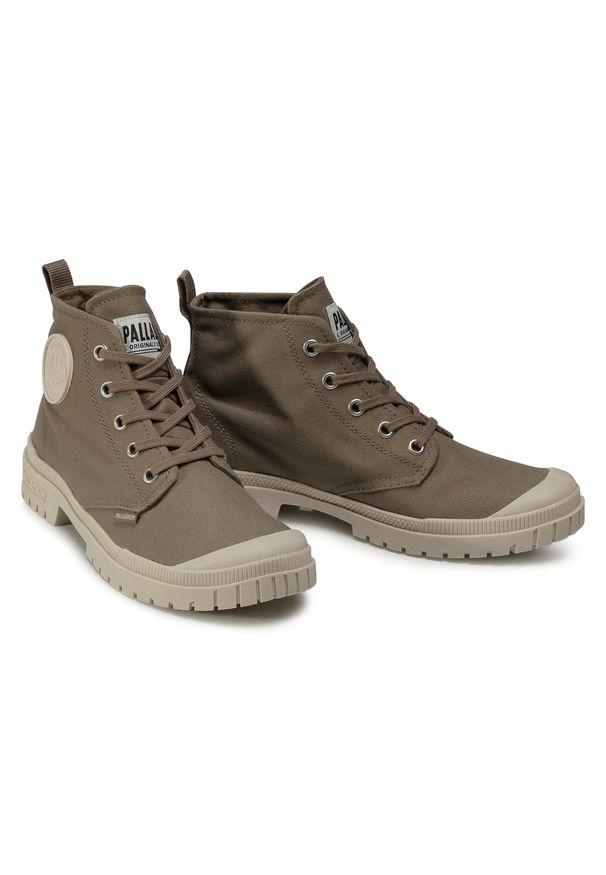 Zielone buty trekkingowe Palladium z cholewką, trekkingowe