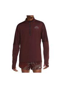 Koszulka męska do biegania Nike Run Division CU7852. Materiał: bawełna, tkanina, materiał, poliester. Długość rękawa: długi rękaw. Technologia: Dri-Fit (Nike). Długość: długie. Wzór: nadruk. Sport: bieganie