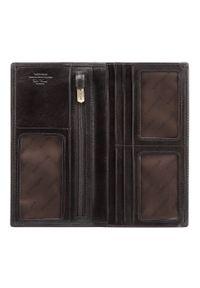 Wittchen - Damski portfel ze skóry z herbem bez zapięcia. Kolor: czarny. Materiał: skóra