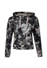 Deha - Bluza z kapturem DEHA EASY. Typ kołnierza: kaptur. Materiał: bawełna. Długość: krótkie. Wzór: kwiaty, aplikacja, nadruk