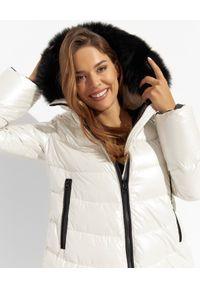 FLO&CLO - Biały płaszcz puchowy Preziosa. Kolor: biały. Materiał: puch