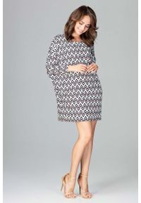 Sukienka Katrus w geometryczne wzory, mini