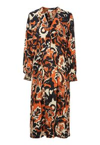 Pomarańczowa sukienka Freequent elegancka