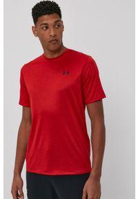 Under Armour - T-shirt. Okazja: na co dzień. Kolor: czerwony. Materiał: dzianina. Styl: casual