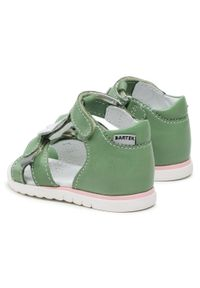 Bartek - Sandały BARTEK - 11414004 NPGS Zielony. Kolor: zielony. Materiał: skóra. Wzór: aplikacja