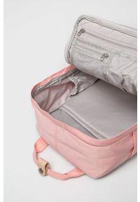 Doughnut - Plecak Macaroon Stripe. Kolor: różowy. Wzór: paski