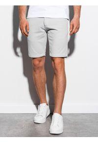 Szare szorty Ombre Clothing krótkie, eleganckie