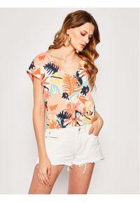 Roxy Bluzka ERJWT03374 Kolorowy Regular Fit. Wzór: kolorowy