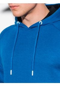 Ombre Clothing - Bluza męska z kapturem B1080 - niebieska - XXL. Typ kołnierza: kaptur. Kolor: niebieski. Materiał: poliester, bawełna