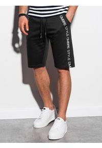 Czarne szorty Ombre Clothing z nadrukiem, krótkie