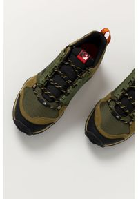 Oliwkowe buty trekkingowe adidas Performance Adidas Terrex, z cholewką