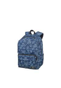 Niebieski plecak AMERICAN TOURISTER w kwiaty