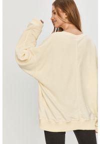 Żółta bluza Answear Lab bez kaptura, wakacyjna, długa, z długim rękawem