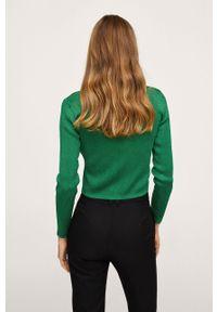 mango - Mango - Kardigan Mecano. Okazja: na co dzień. Kolor: zielony. Materiał: dzianina, materiał. Długość rękawa: długi rękaw. Długość: długie. Styl: casual