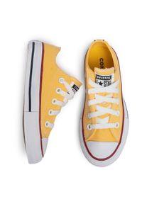 Żółte półbuty Converse z cholewką