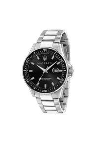Srebrny zegarek Maserati