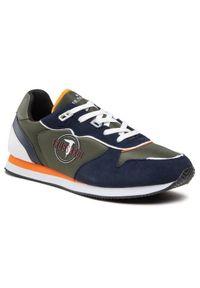 Trussardi Jeans - Trussardi Sneakersy 77A00359 Zielony. Kolor: zielony