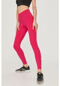 Różowe legginsy Nike z podwyższonym stanem