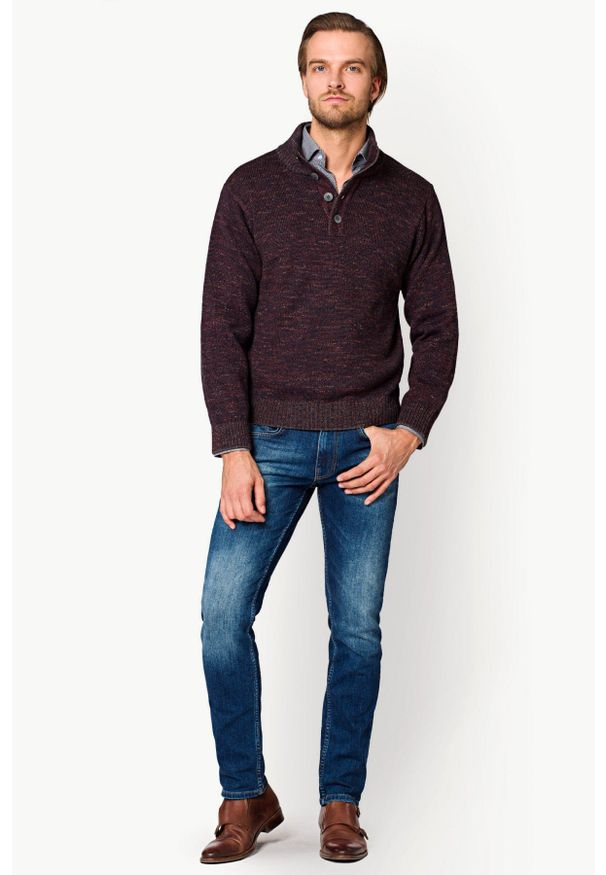 Niebieskie jeansy Lancerto vintage, w kolorowe wzory